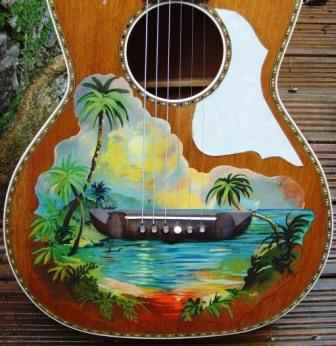 39 decorated 39 guitars page 2 the acoustic guitar forum for Acoustic guitar decoration ideas